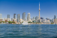 Amazing view of Toronto downtown skyline landscape background on sunny summer day Stock Photo