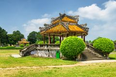 Amazing view of traditional Vietnamese pavilions in Hue, Vietnam royalty free stock photo