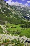 Amazing view of Vihren Peak, Pirin Mountain Royalty Free Stock Photo