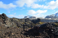 Amazing View from Volcanic Crater in Iceland Stock Image