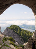 Amazing view from Werfen Ice Cave Royalty Free Stock Photography