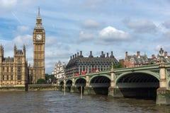 Amazing view of Westminster Bridge and Big Ben, London, United Kingdom Royalty Free Stock Photo