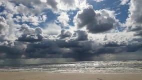 Amazing view. White big clouds Stock Photo