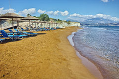 Amazing view of Xi Beach,  beach with red sand in Kefalonia Royalty Free Stock Photography