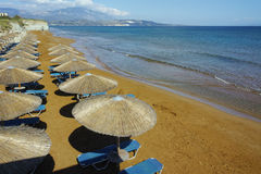 Amazing view of Xi Beach,  beach with red sand in Kefalonia Stock Image