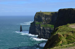 Amazing Views of the Cliffs of Moher in Ireland`s County Clare. Beautiful view of the Cliffs of Moher in Ireland`s County Clare Stock Image