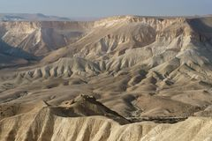 Amazing views of Ein Avdat and Zin Valley. Negev, desert. And semidesert region of southern Israel stock images