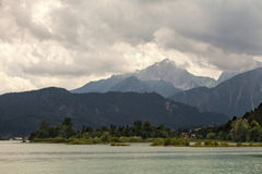 Amazing views from the Forggensee lake in Germany. Stock Image