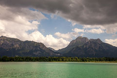 Amazing views from the Forggensee lake in Germany. Royalty Free Stock Photos