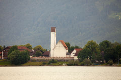 Amazing views from the Forggensee lake in Germany. Royalty Free Stock Images