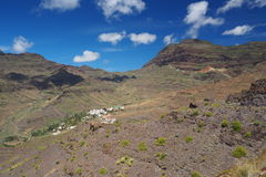 Amazing views from GC-200 coastal highway. In Gran Canaria Royalty Free Stock Photo