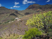 Amazing views from GC-200 coastal highway. In Gran Canaria Royalty Free Stock Images