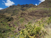 Amazing views from GC-200 coastal highway. In Gran Canaria Stock Photos