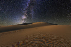 Amazing views of the Gobi desert under the  starry sky. Royalty Free Stock Images
