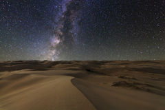 Amazing views of the Gobi desert under the starry sky. Amazing views of the Gobi desert under the night starry sky royalty free stock image