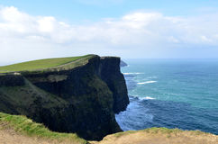 Amazing Views of the Scenic Cliff`s of Moher in Ireland Stock Image