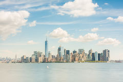 Amazing  views to lower manhattan Stock Photography
