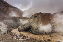 Amazing views of the volcanic landscape. Royalty Free Stock Photography