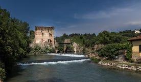 The amazing village Borghetto Sul Mincio, Italy. stock photo
