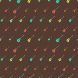 Amazing vintage colorful guitar pattern Royalty Free Stock Photography