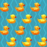 Amazing vintage duck blue pattern Royalty Free Stock Photography