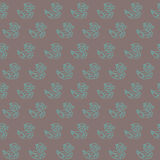 Amazing vintage duck brown outline pattern Stock Photo