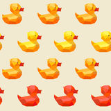 Amazing vintage duck colorful pattern Royalty Free Stock Photo
