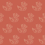 Amazing vintage duck yellow polygon pattern Royalty Free Stock Image
