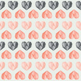 Amazing vintage grey heart pattern Royalty Free Stock Photography