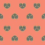 Amazing vintage heart pink polygon pattern Royalty Free Stock Images