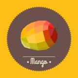 Amazing vintage orange mango illustration Royalty Free Stock Photo