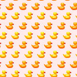 Amazing vintage princess pattern with ducks Royalty Free Stock Photography