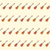 Amazing vintage red guitar pattern Royalty Free Stock Photo