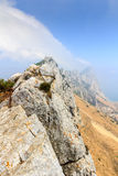 Amazing Vista from the top of the Rock of Gibraltar Royalty Free Stock Photo