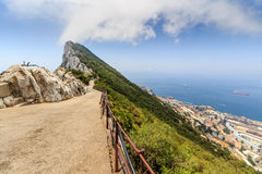 Amazing Vista from the top of the Rock of Gibraltar Stock Photography