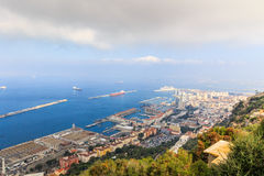 Amazing Vista from the top of the Rock of Gibraltar Royalty Free Stock Photos
