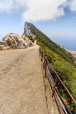 Amazing Vista from the top of the Rock of Gibraltar Royalty Free Stock Photography