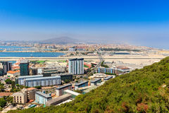 Amazing Vista from the top of the Rock of Gibraltar.  Royalty Free Stock Photos