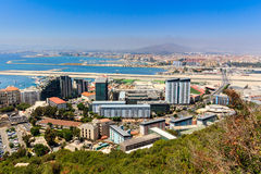 Amazing Vista from the top of the Rock of Gibraltar Royalty Free Stock Image