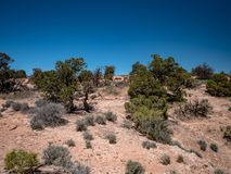 Amazing vistas and scenary from the grand view point in the Canyonlands National Park. Canyonlands National Park, USA - APRIL 15, 2019: View of amazing vistas royalty free stock photos