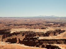 Amazing vistas and scenary from the grand view point in the Canyonlands National Park. Canyonlands National Park, USA - APRIL 15, 2019: View of amazing vistas royalty free stock photography