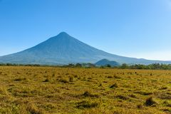 Amazing Volcano de Agua, view from Antigua, Guatemala royalty free stock images