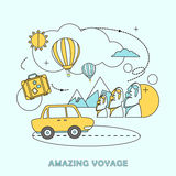 Amazing voyage concept Royalty Free Stock Photography