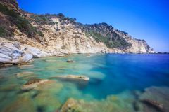 Amazing water. Amazing blue water at zakynthos Stock Image