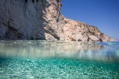 Amazing water. Amazing blue water at zakynthos Stock Photography