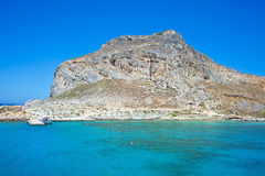 Amazing water color of Gramvousa island Stock Images