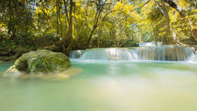 Amazing waterfall in deep forest Stock Photos