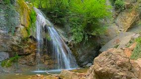 Amazing Waterfall Dzhur Dzhur In Motion stock footage