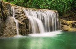 Amazing Waterfall Erawan Royalty Free Stock Photography