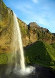 Amazing waterfall in Iceland. View of the Seljalandsfoss waterfall in Iceland Stock Photo